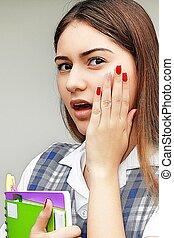 Shocked Female Student