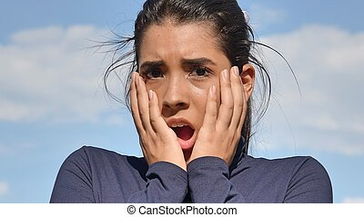 Shocked Female Teenager