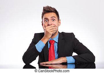 shocked office man