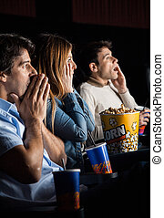 Shocked People Watching Movie