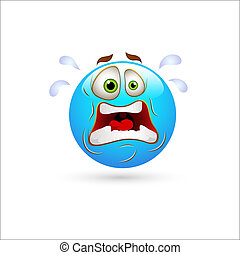 Shocked Smiley Icon Vector - Creative Abstract Conceptual...