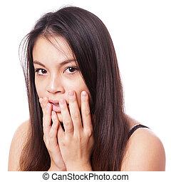 shocked young asian woman -   young asian woman in shock