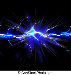 Shocking Electricity - Bright glowing lightning or...