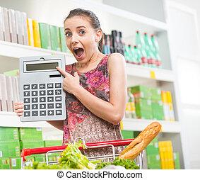 Shocking prices at supermarket