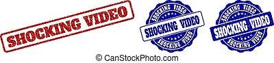 SHOCKING VIDEO Grunge Stamp Seals
