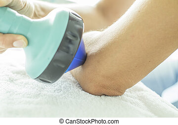 Shockwave Therapy on elbow