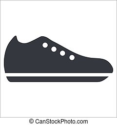Shoe - Vector illustration of isolated black and white store...