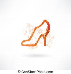 Shoe grunge icon