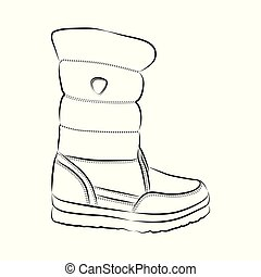 Shoe, hand-drawn in sketch style. Vector illustration