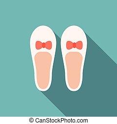 shoe icon, flat design