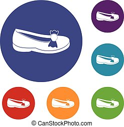 Shoe icons set