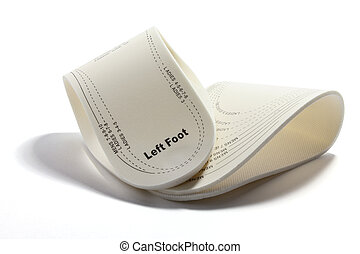 Shoe Insoles on White Background