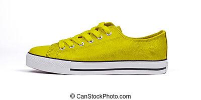 Shoe isolated on white background - Yellow
