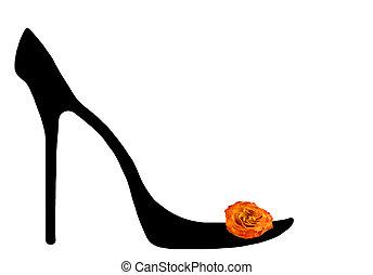 Shoe of the cinderella.