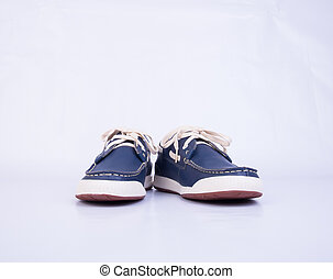 shoe or men's shoes in fashion concept on a background. -...