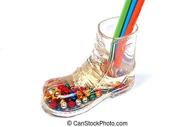 Shoe Pencil Holder