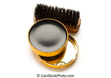 Shoe polish isolated on the white background
