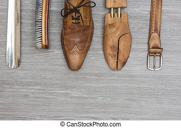 shoe products with a matching belt