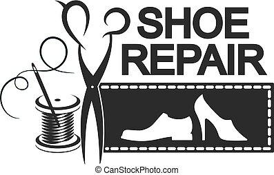 Shoe repair silhouette