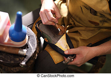 Shoe repair - shoemaker, hand made leather shoes