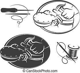 Shoe repair symbol set