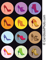 shoe set, vector