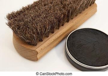 Shoe Shine - Shoe shine brush and paste