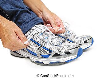 Shoe Tying - tie shoe laces