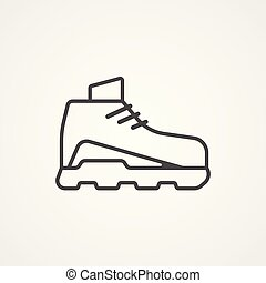shoe vector icon sign symbol