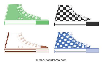shoe.created by illustrator cs.