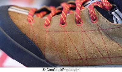 Shoelaces close up