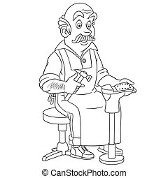 shoemaker cobbler man - Coloring page. Coloring picture of ...
