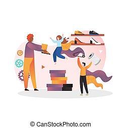Shoemaker vector concept for web banner, website page