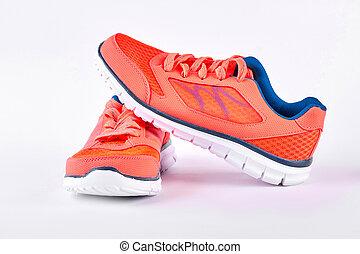 shoes., 対, 現代, スポーツ, 新しい