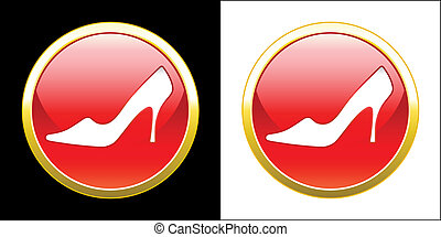 Shoes advertisement - Collection of shoes icons. Vector...