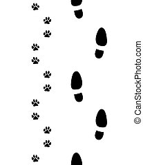 shoes and dog paws
