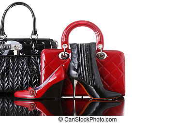 shoes and handbag, fashion photo