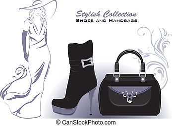 Shoes and handbags. Collection