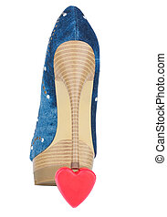 shoes are on the symbolic heart
