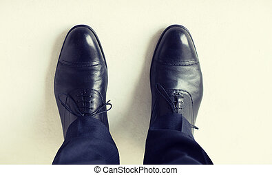 shoes, arriba, elegante, cordones, cierre, piernas, hombre
