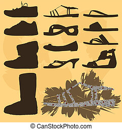 Shoes collection - silhouettes
