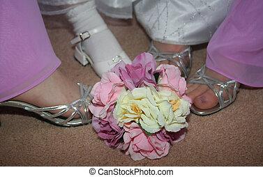 shoes, damas de honor