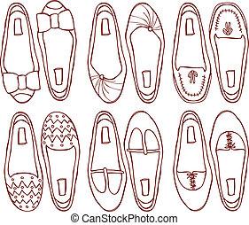 shoes doodle