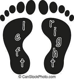 Shoes Footsteps icon vector on white background