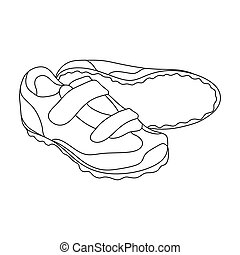 Shoes for cyclists. Special cycling for cycling.Cyclist outfit single icon in outline style vector symbol stock illustration.
