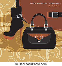 Shoes, handbags and accessories