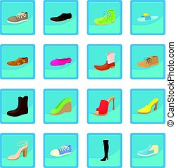 Shoes icon blue app