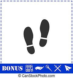 Shoes icon flat