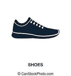 Shoes icon. Flat style icon design. UI. Illustration of shoes icon. Pictogram isolated on white. Ready to use in web design, apps, software, print.