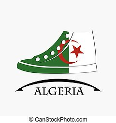 shoes icon made from the flag of Algeria